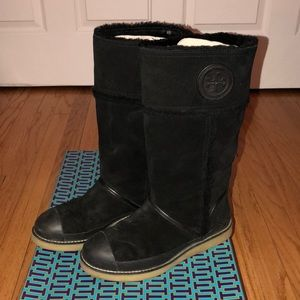 Tory Burch Nadine Mid Shaft Boot Deep Split Suede